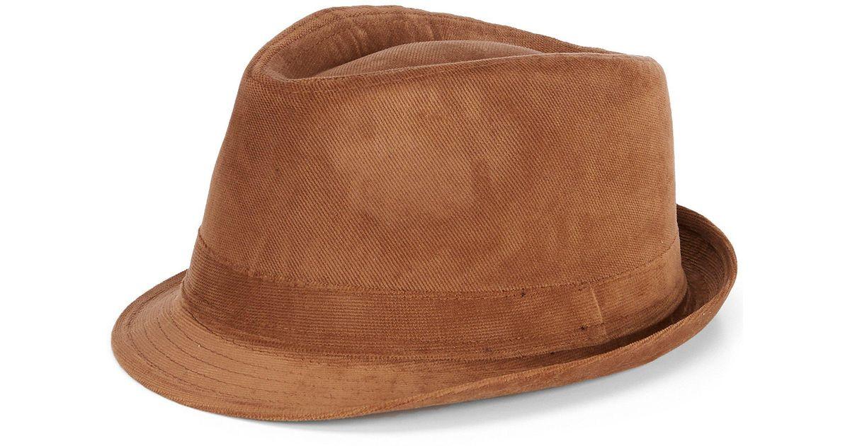 Lyst - Cremieux Corduroy Fedora in Brown for Men 46996d61db7