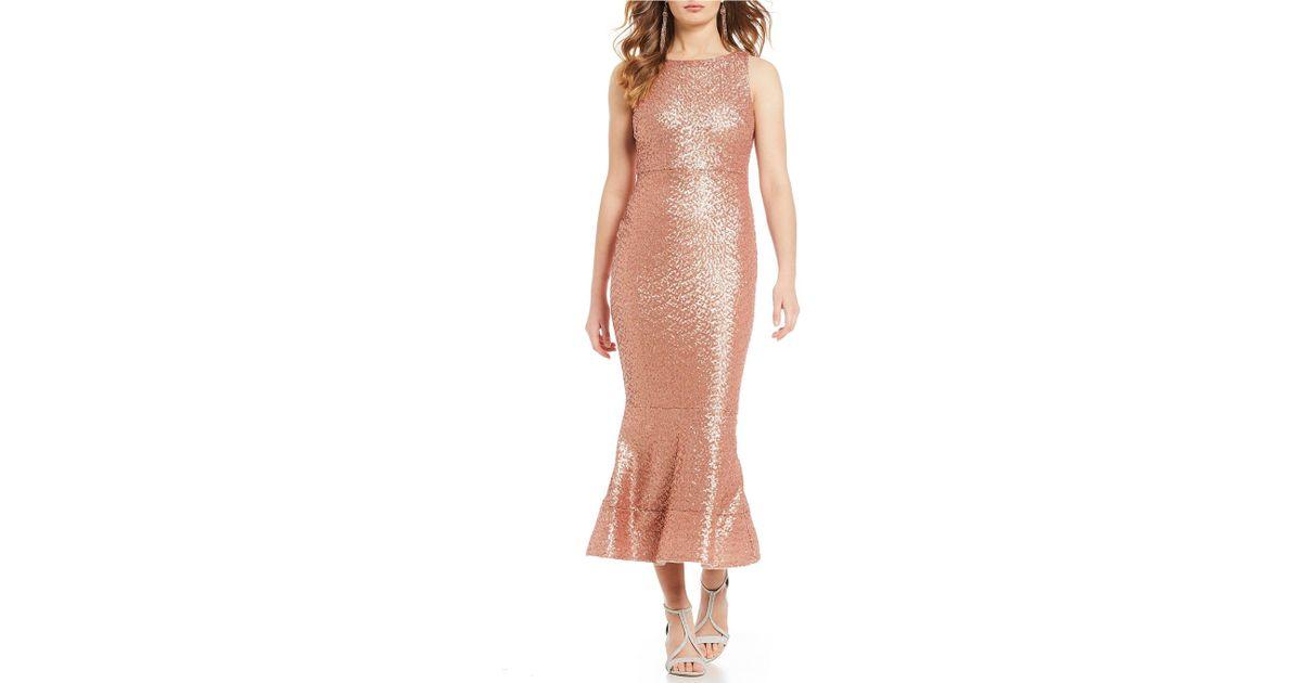 c9807ca1e4b Gianni Bini Juliet Sequin Midi Dress in Pink - Lyst