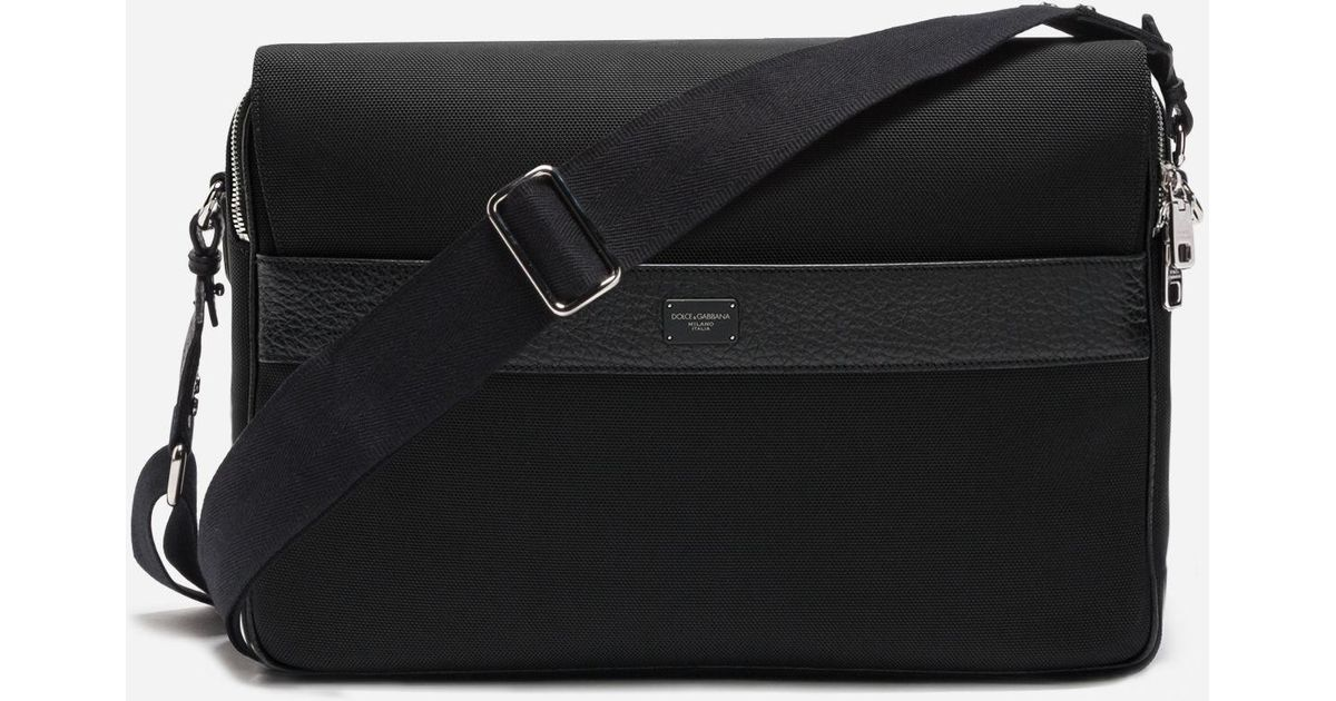 141baf2b9756 Lyst - Dolce   Gabbana Messenger Bag In Canvas in Black for Men