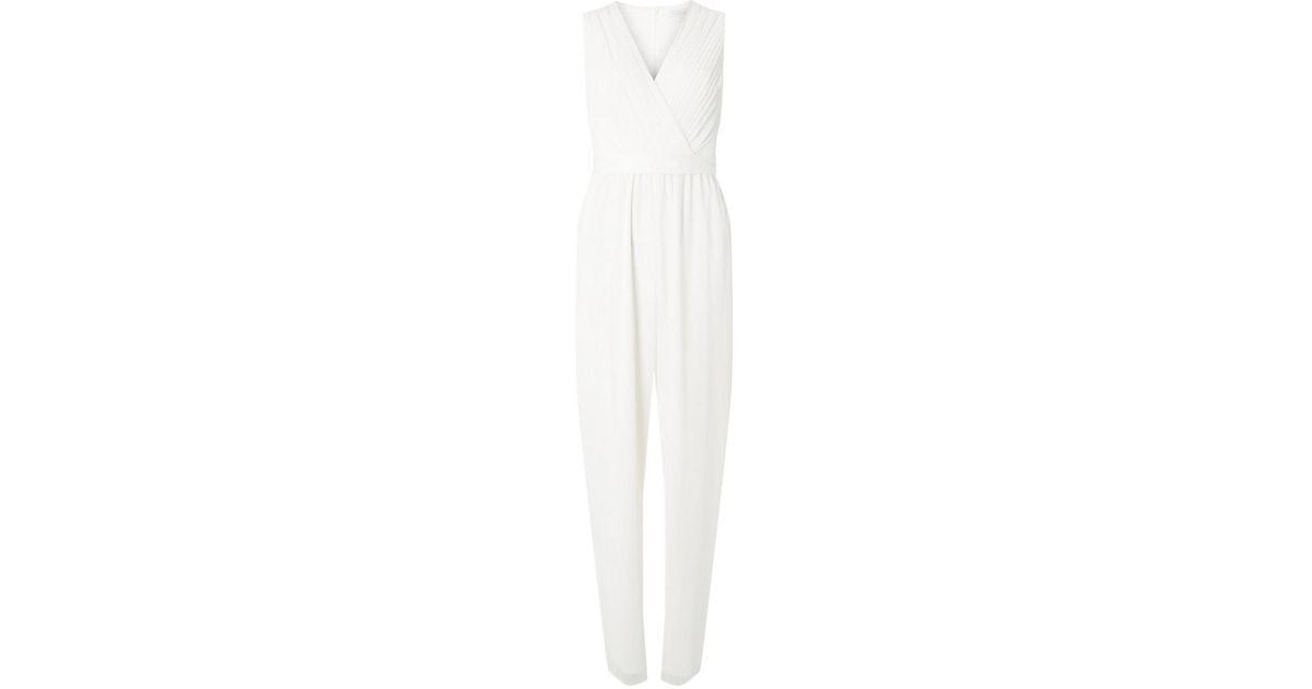 6cccc6c84252 Dorothy Perkins Showcase White 'juliet' Bridal Jumpsuit in White - Lyst