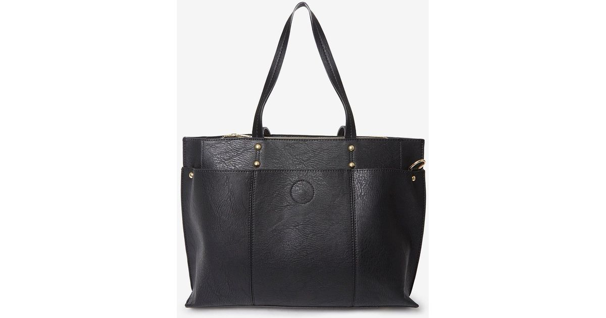 3a5b5a8d8dbe6 Dorothy Perkins Black Triple Compartment Tote Bag in Black - Lyst