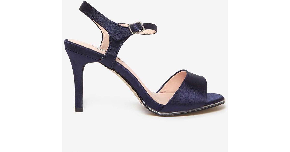 61c60976846 Dorothy Perkins Showcase Wide Fit Navy  senorita  Sandals in Blue - Lyst