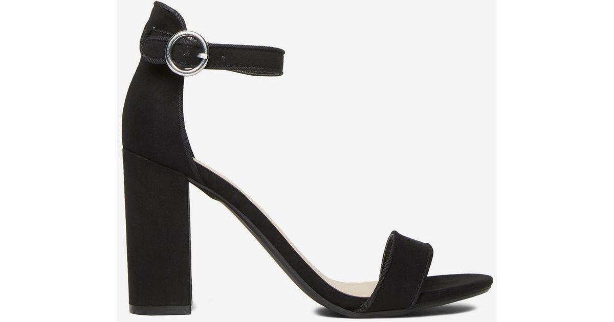 b9b87580d9185d Lyst - Dorothy Perkins Black Shimmy Block Heeled Sandal in Black