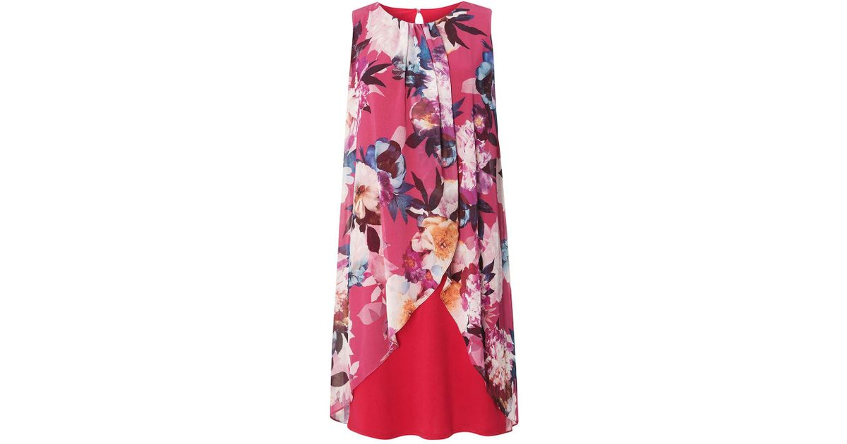 19c5f4d52bf57 Dorothy Perkins Billie & Blossom Floral Print Trapeze Dress in Pink - Lyst