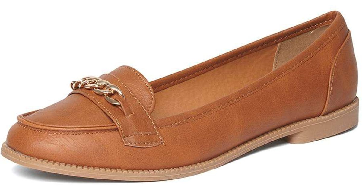 80ad73b0671 Lyst - Dorothy Perkins Wide Fit Tan  lipstick  Loafers in Brown