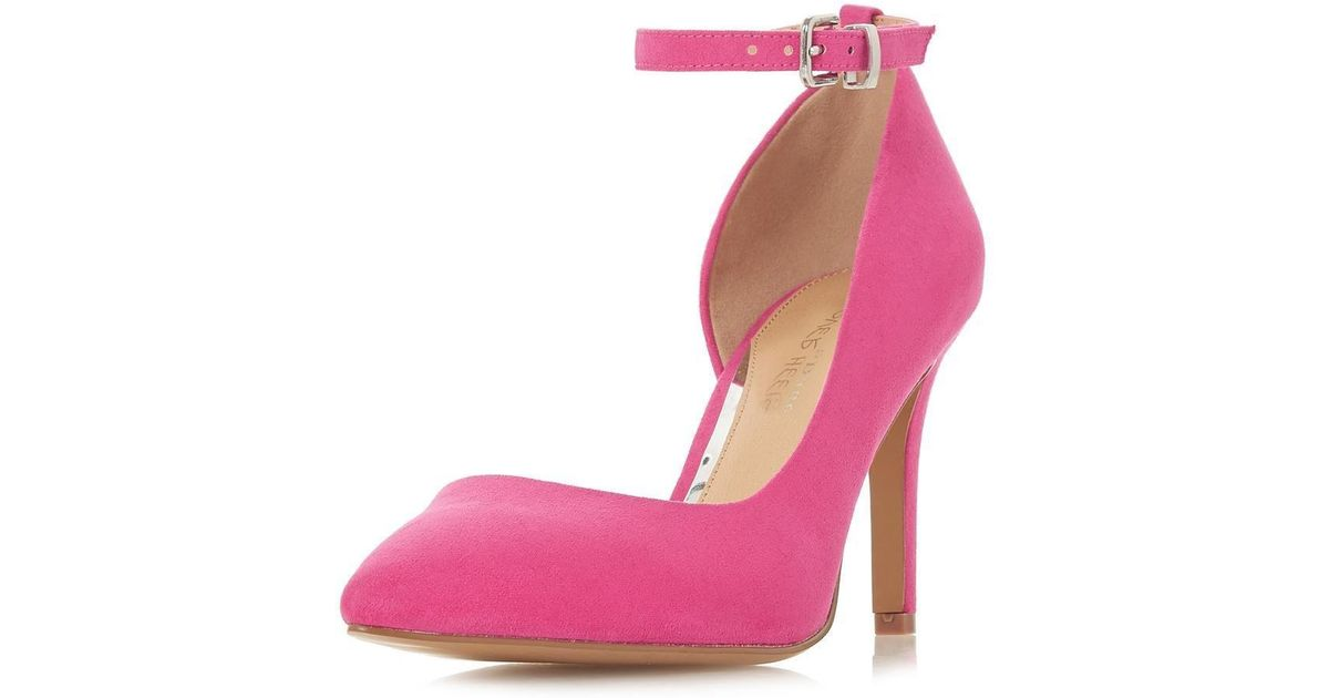 76871e869b5 Dorothy Perkins - Head Over Heels By Dune Pink 'clarra' Heeled Court Shoes  - Lyst