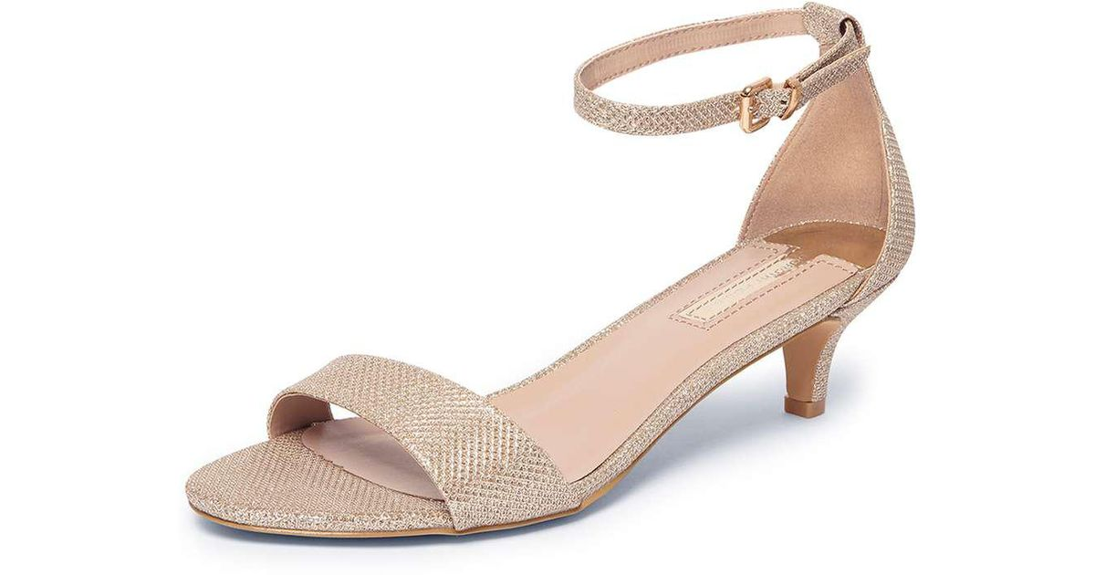 e93a6f94324 Lyst - Dorothy Perkins Gold Niscos  sundae  Low Heel Sandals in Metallic