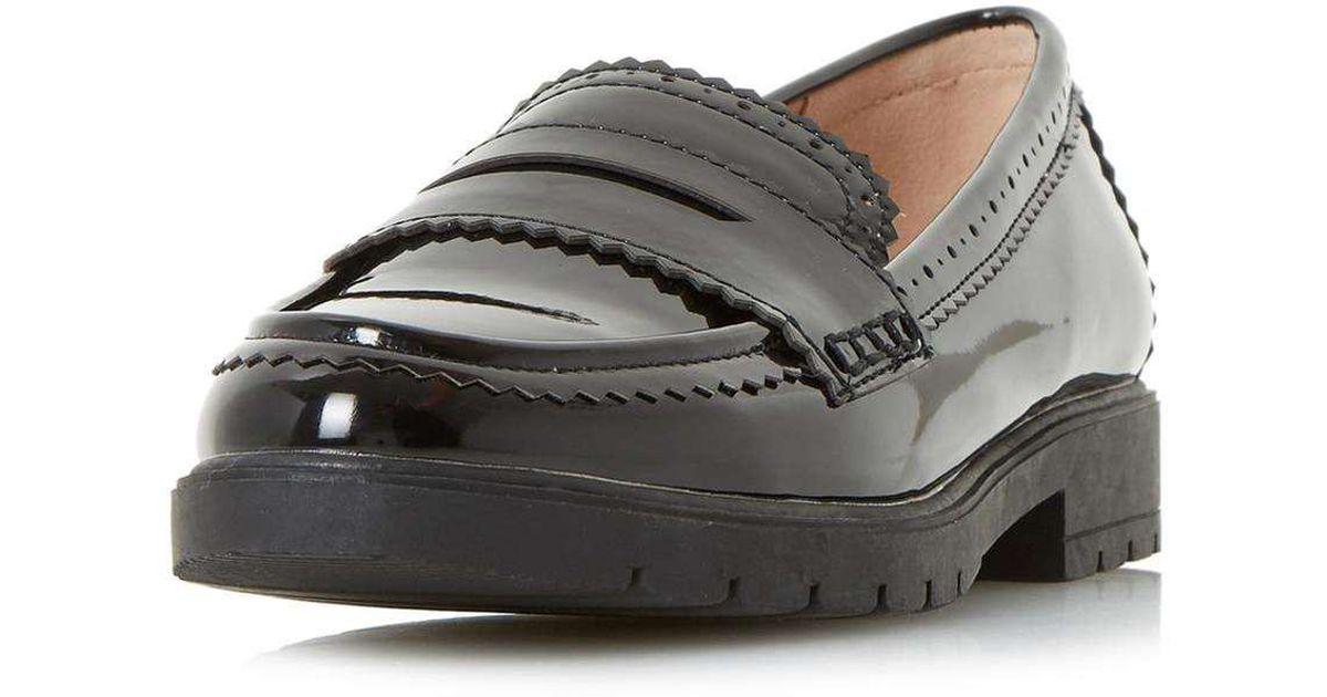 ef06b23915c Lyst - Dorothy Perkins Head Over Heels By Dune Black  gemm  Flat Shoes in  Black