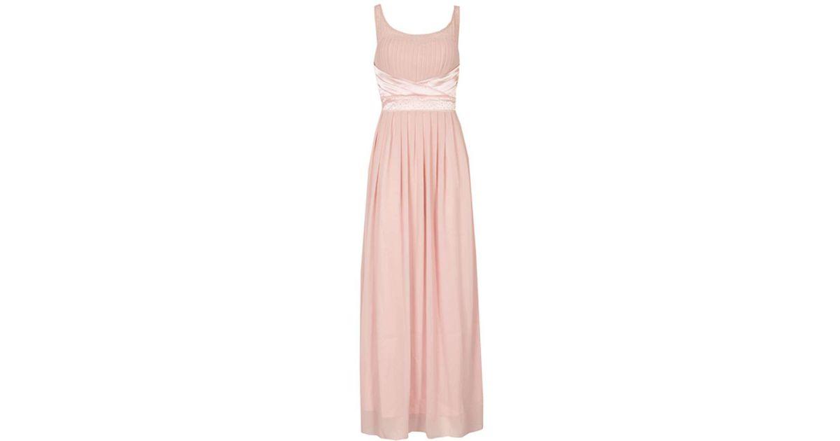 3950fd3f5a1 Lyst - Dorothy Perkins Izabel London Pink Embellished Maxi Dress in Pink