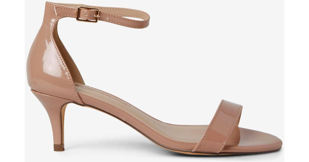 compare price beautiful in colour world-wide free shipping Dorothy Perkins Natural Nude 'sunset' Kitten Heel Sandals
