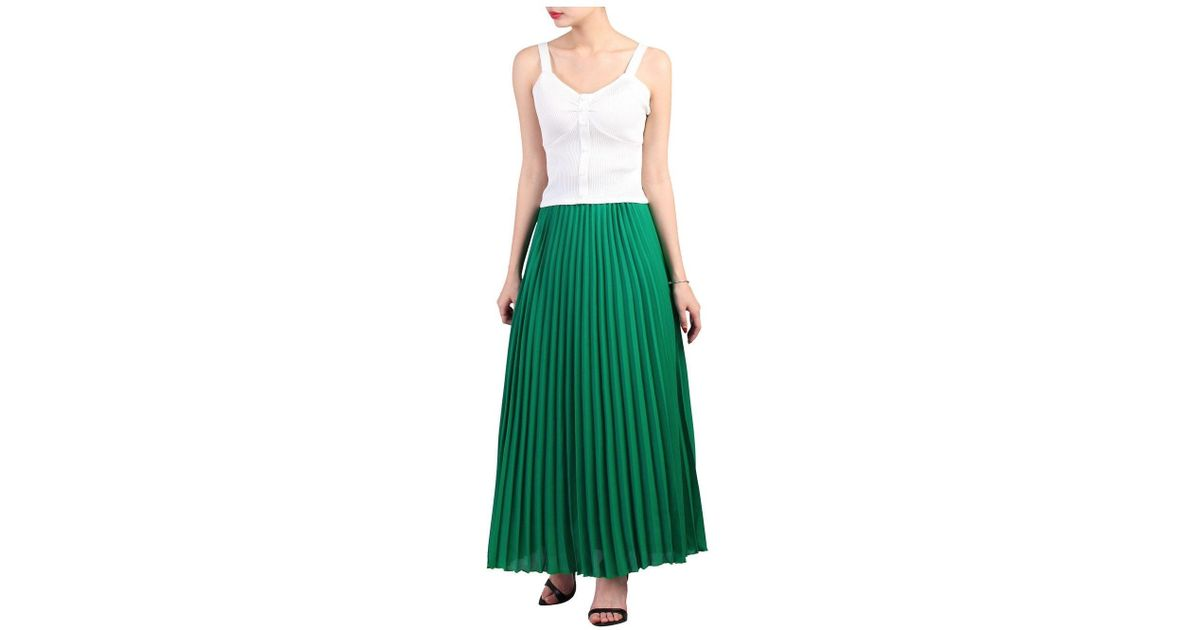 21f68342bc Dorothy Perkins Jolie Moi Green Pleated Maxi Skirt in Green - Lyst