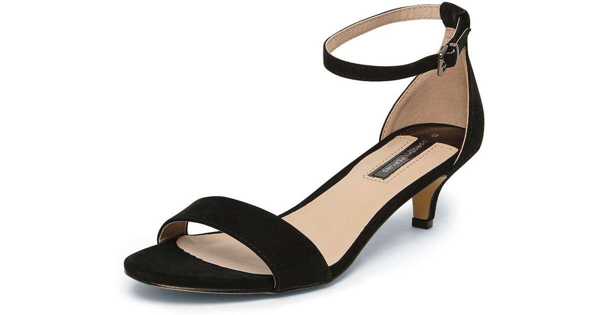 9664d502944 Lyst - Dorothy Perkins Black  sundae  Low Heel Sandals in Black