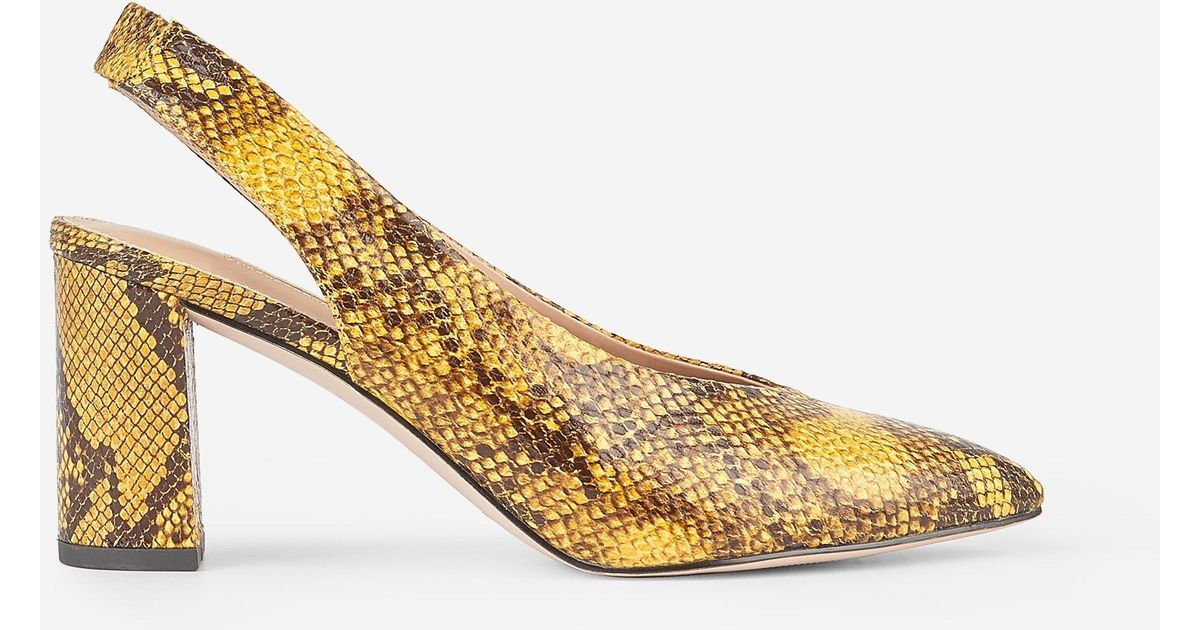 710e33b43d46 Dorothy Perkins Yellow Snake Print 'everley' Court Shoes in Yellow - Lyst