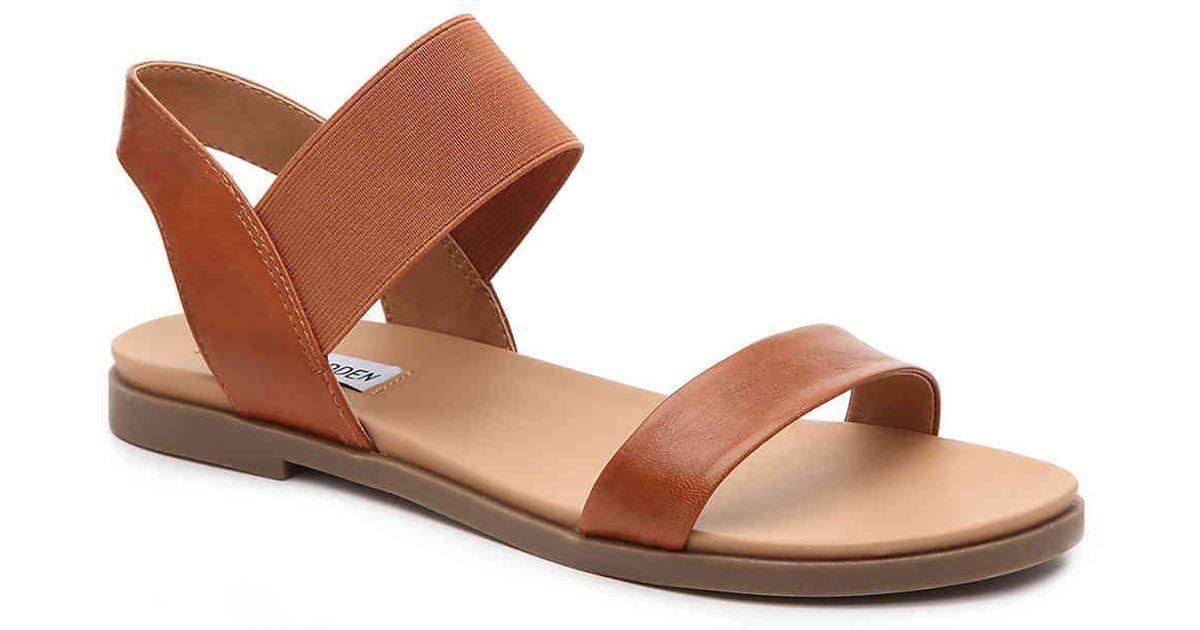 Lyst - Steve Madden Darnell Flat Sandal in Brown