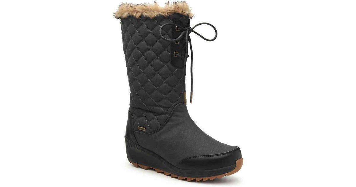 8e42c65665a Lyst - Kamik Plateau Wedge Snow Boot in Black