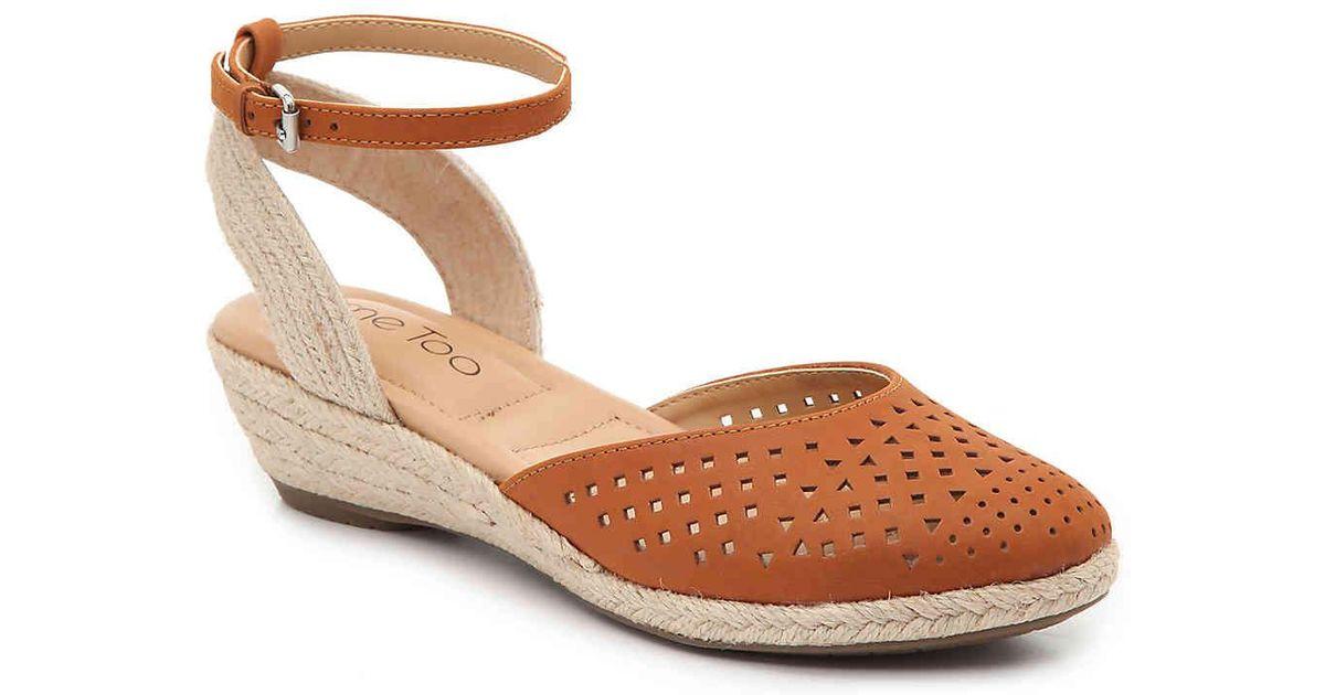c81780f4806 Lyst - Me Too Norina Espadrille Wedge Sandal in Brown