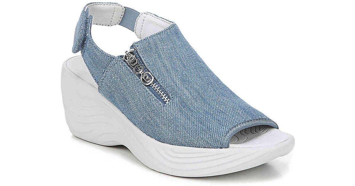 4291ad3ead4c Lyst - Bzees Zipline Wedge Sandal in Blue - Save 1%