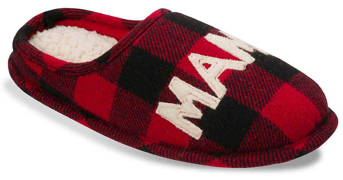 fec682fea83 Lyst - Dearfoams Mama Bear Scuff Slipper in Red