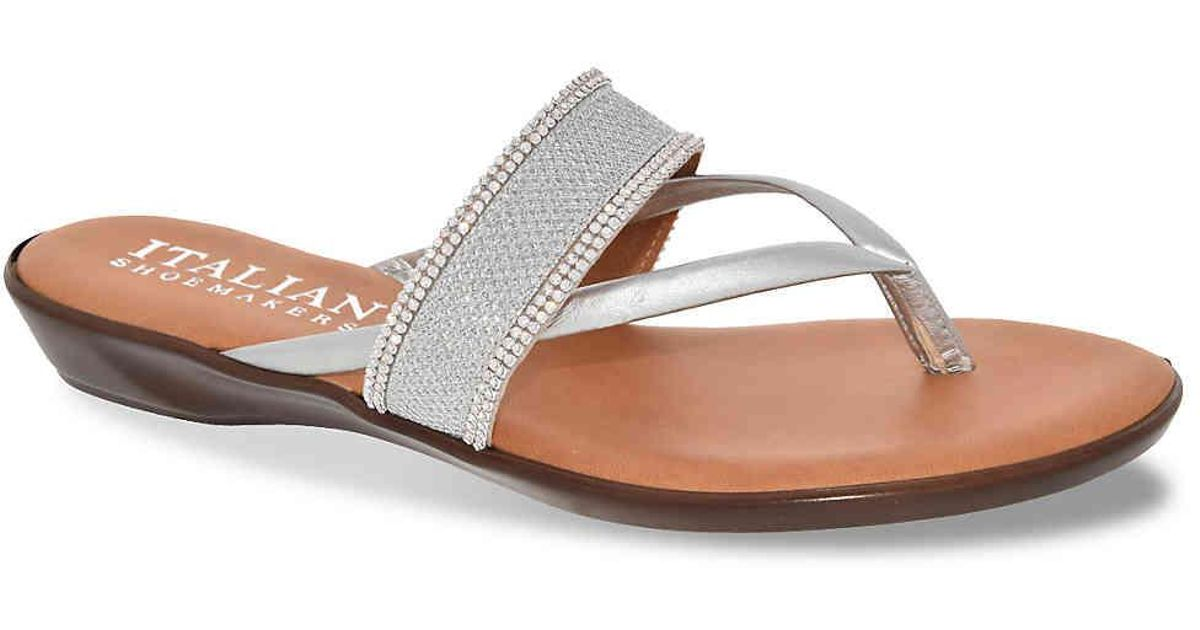 924ac5e23ac6 Lyst - Italian Shoemakers Kloss Sandal in Metallic