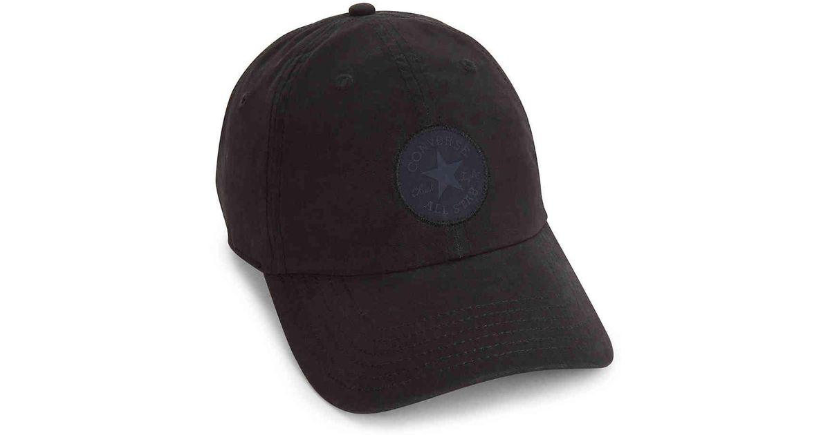 e5a3d2ba053 Lyst - Converse Chuck Taylor All Star Monotone Core Baseball Cap in Black