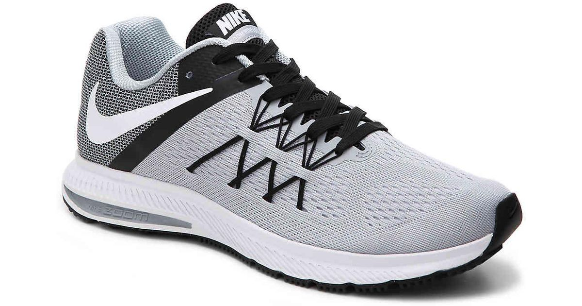 new arrival 9c394 4a941 Nike - Gray Zoom Winflo 3 Lightweight Running Shoe for Men - Lyst