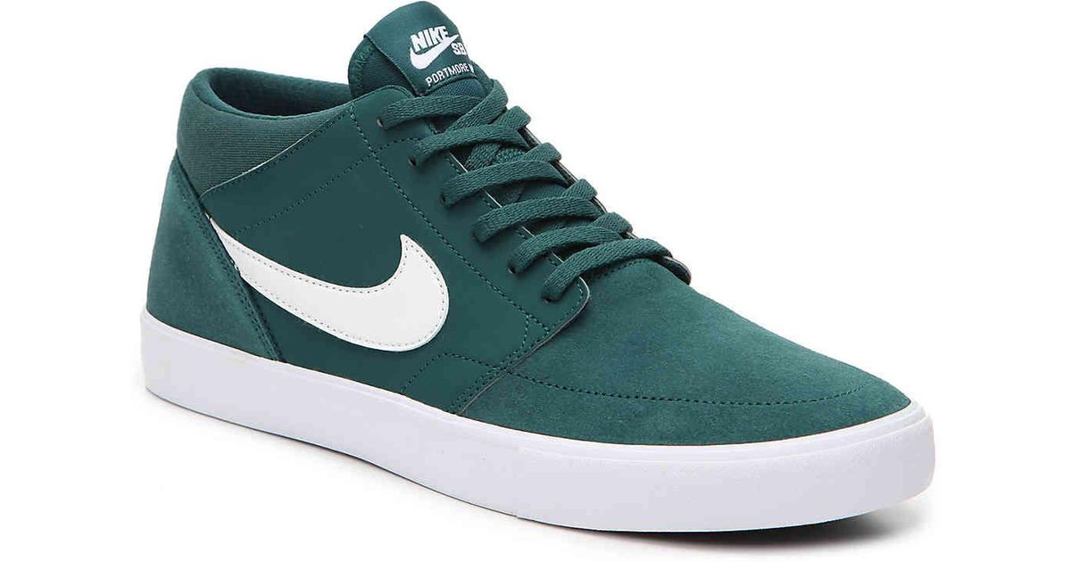 Lyst - Nike Sb Portmore Mid-top Sneaker in Green for Men 3a6201751