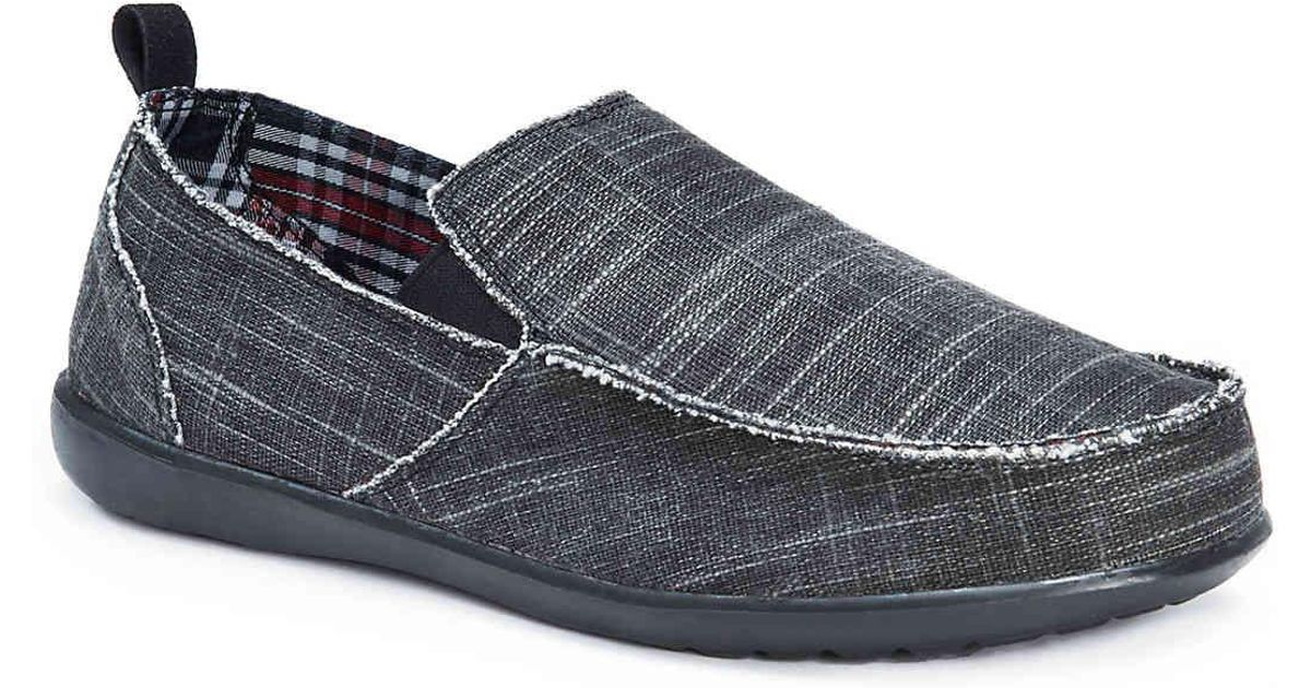 MUK LUKS Andy Loafer(Men's) -Brown Linen Canvas From China Cheap Online Visa Payment Sale Online Buy Cheap Visa Payment Discount Ebay RFL87a