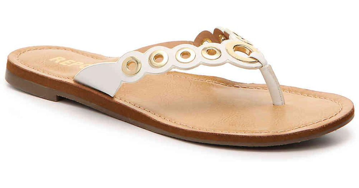 e167e60888a7 Lyst - Report Slone Flat Sandal in White