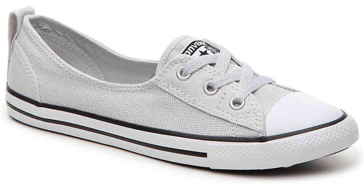 0f7a9cff849c01 Lyst - Converse Chuck Taylor All Star Dainty Ballet Slip-on Sneaker in Gray