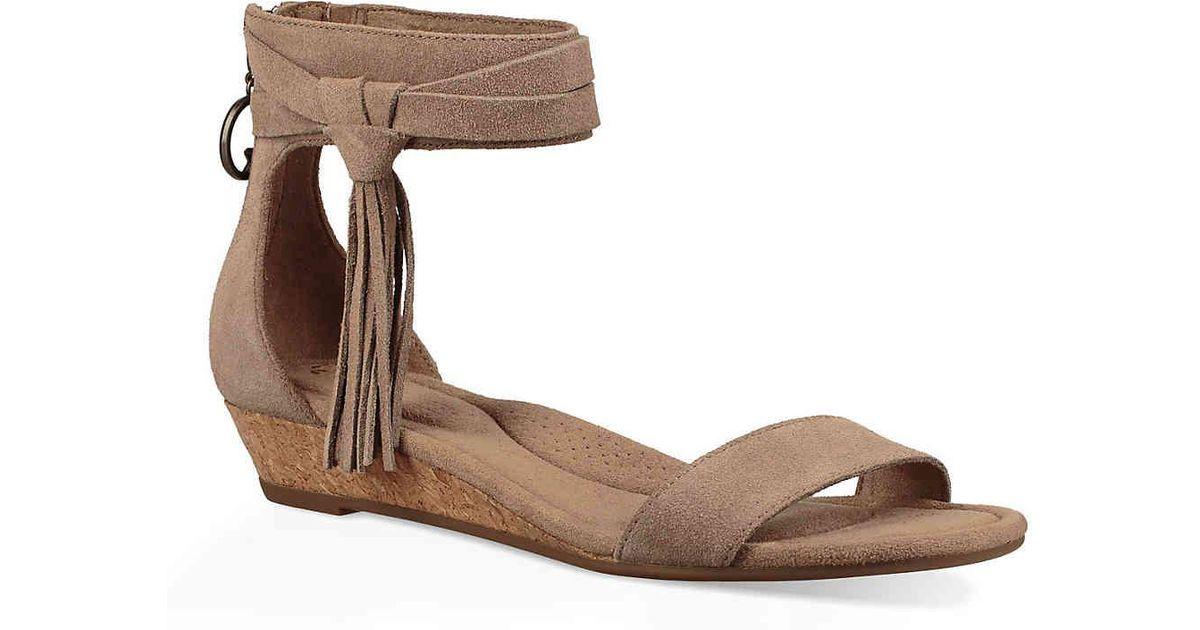 05ea59877be6 Lyst - UGG Saige Wedge Sandal in Brown