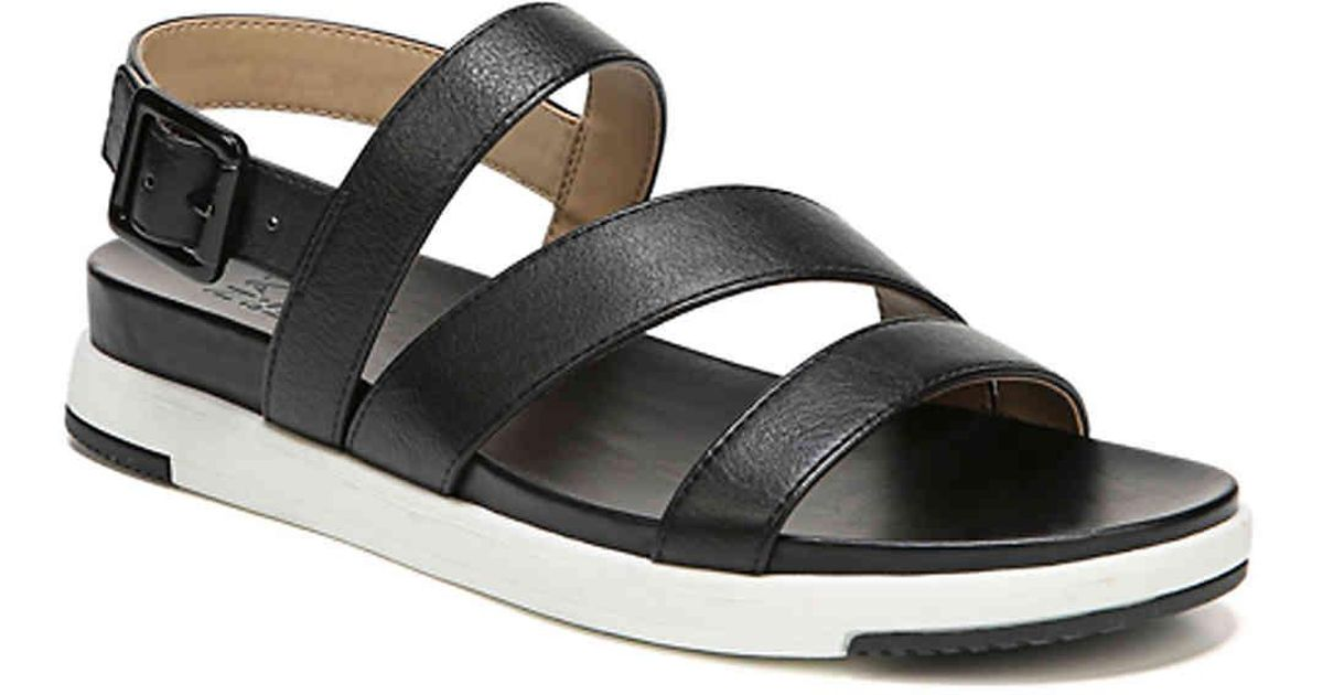 29b7055a1926 Lyst - Naturalizer Andrea Wedge Sandal in Black
