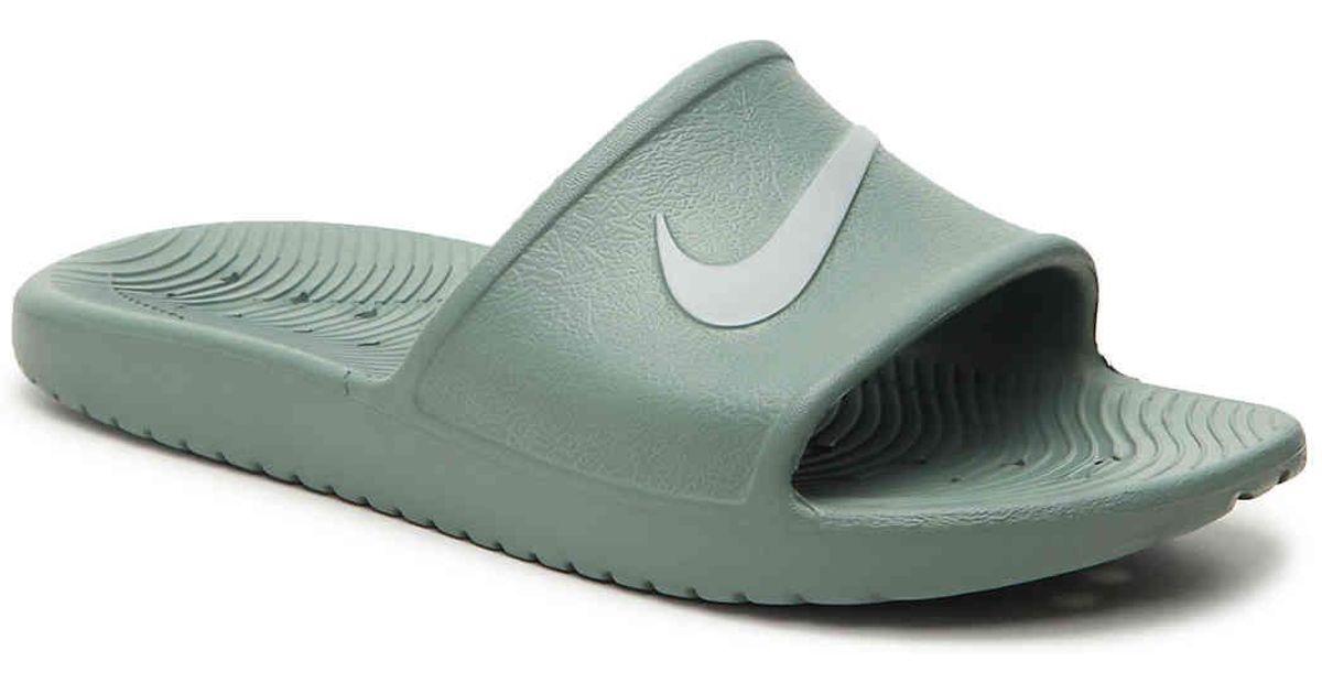 8afcfff7e2cd Lyst - Nike Kawa Shower Slide Sandal in Green for Men