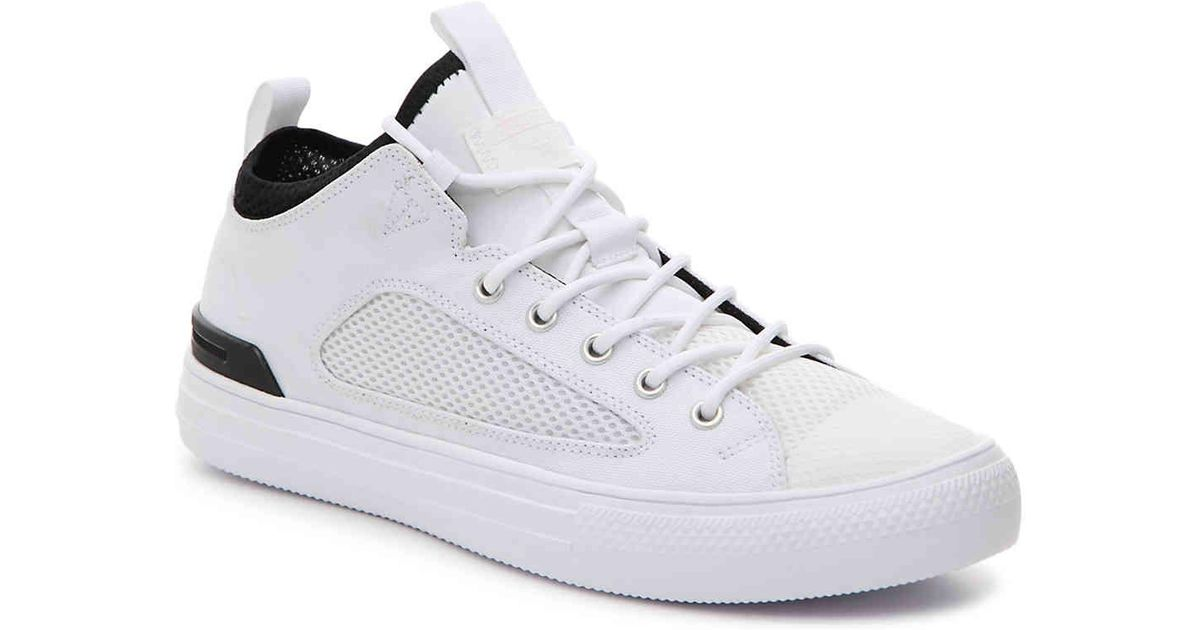 caf11969a537 ... 159628 White White Black Lyst - Converse Chuck Taylor All Star Ultra  Lite Mid-top Sneaker in White for ...