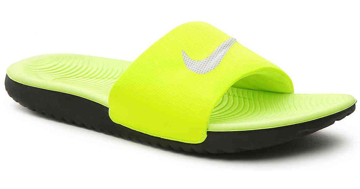 382bceadd ... usa lyst nike kawa slide sandal in green 1350a 9619a