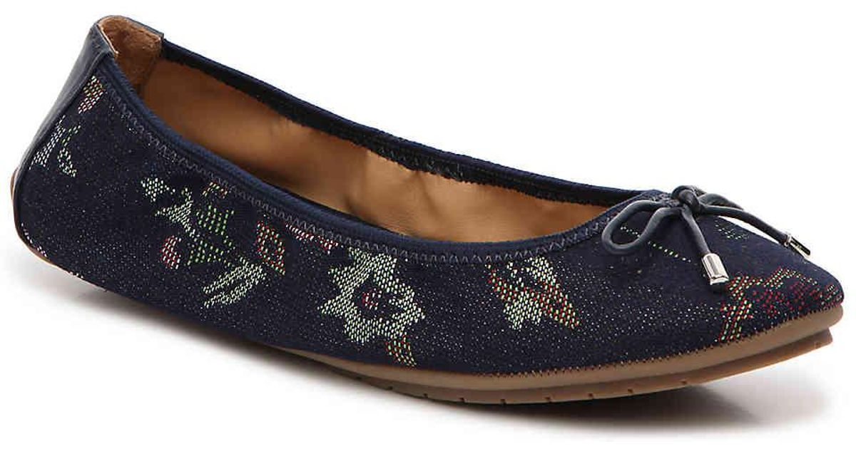 9fa92600a51144 Lyst - Me Too Haven Ballet Flat in Blue