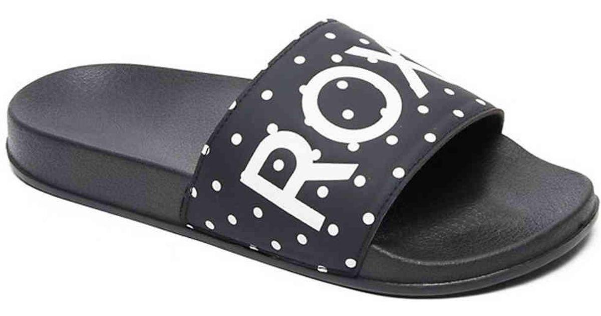 ecc00efad9cf38 Lyst - Roxy Slippy Ii Slide Sandal in Black