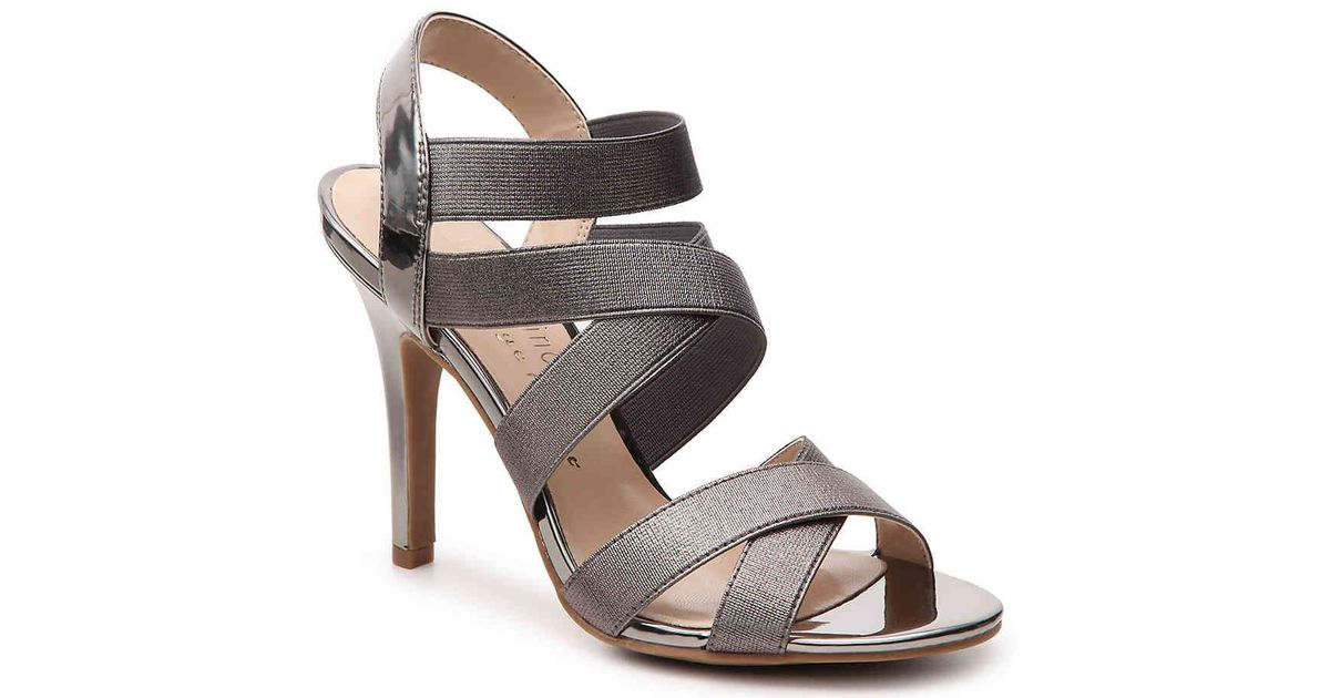 7e93efd8a4ea07 Lyst - Ann Marino By Bettye Muller Daphne Metallic Sandal in Metallic