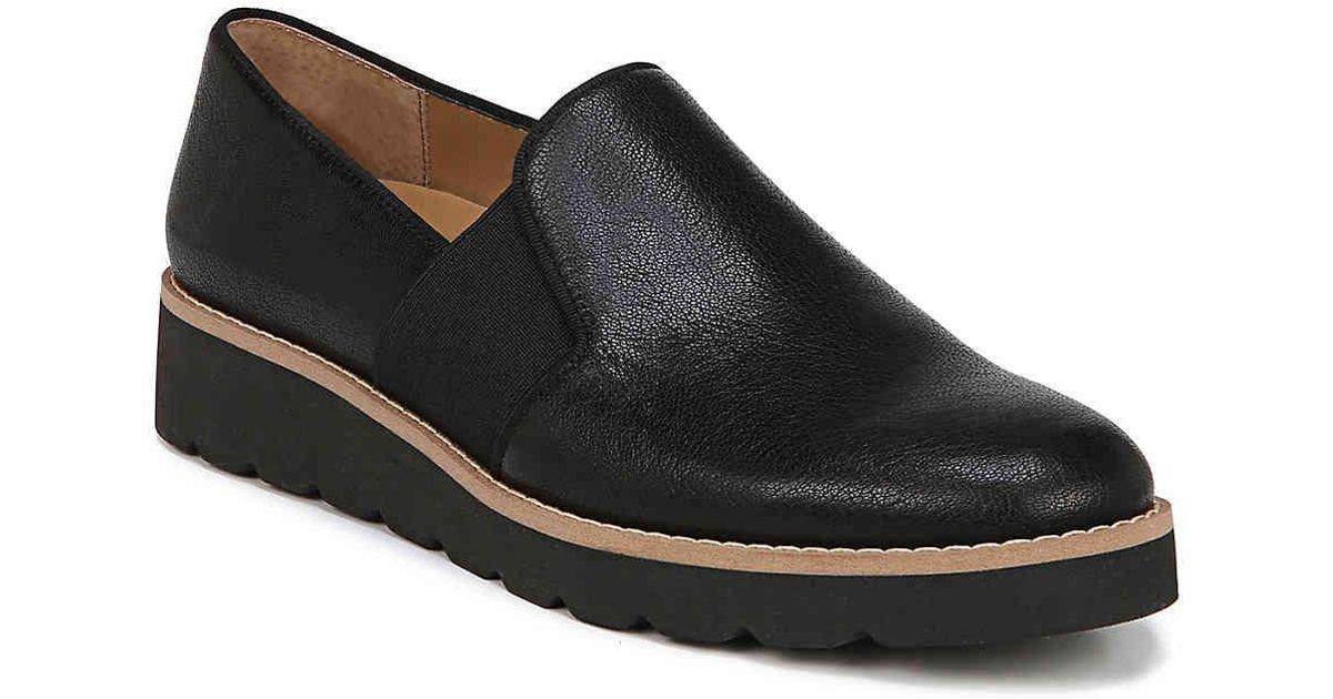fd4b0593b752 Lyst - Franco Sarto Hailie Wedge Loafer in Black