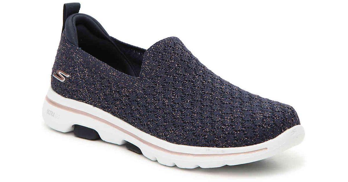 1c01ac2f Skechers Gowalk 5 Brave Slip-on Sneaker in Blue - Lyst