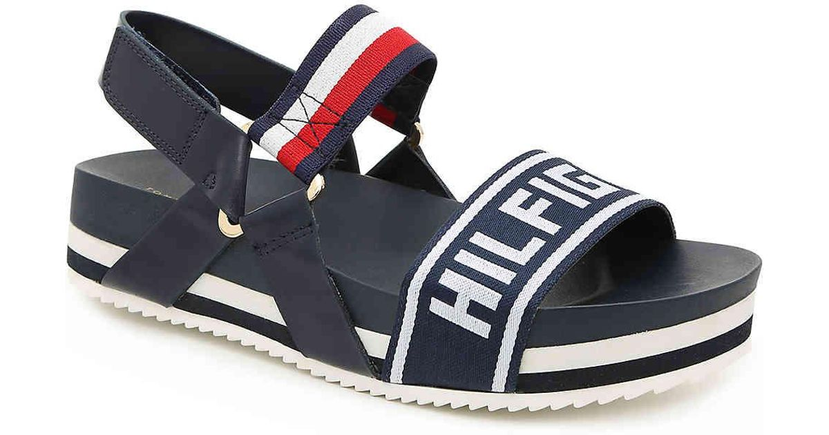 80df73517 Lyst - Tommy Hilfiger Bekett Platform Sandal in Blue