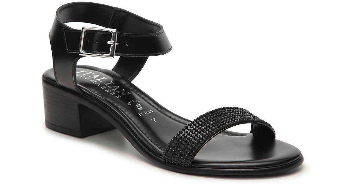 fd5485c29 Lyst - Italian Shoemakers Rhinestone Sandal in Black