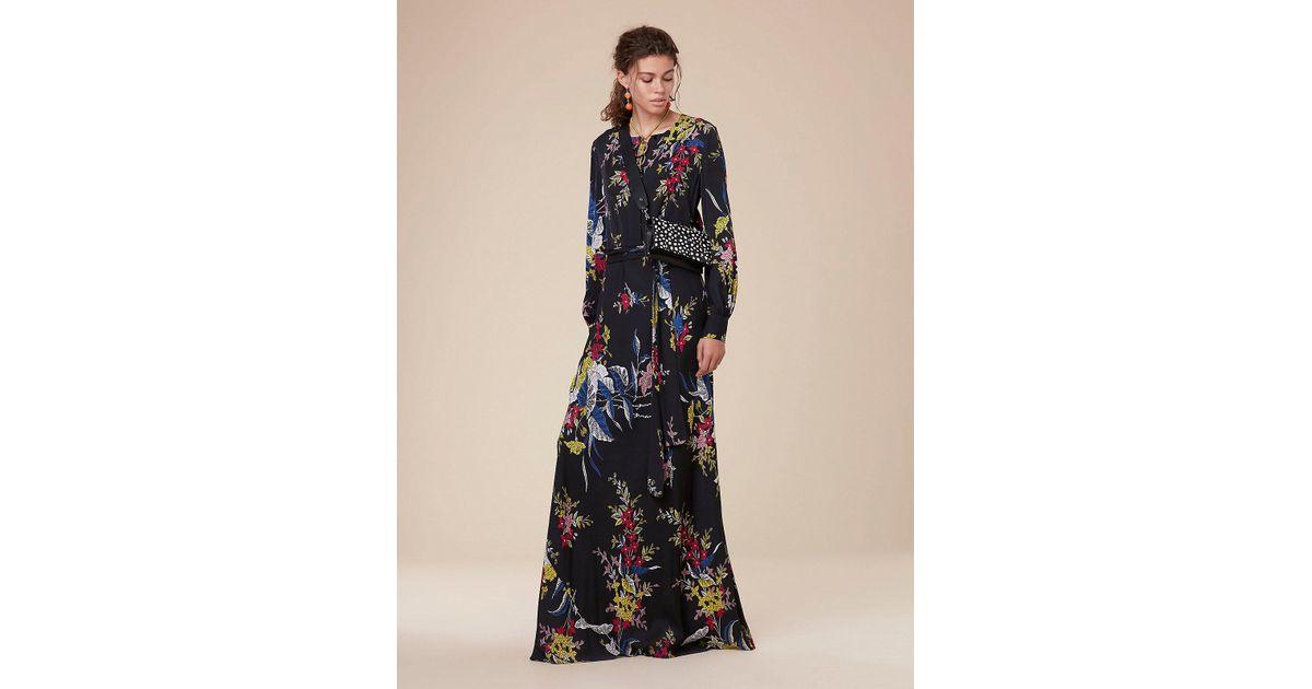 1472875447e Diane von Furstenberg Waist Tie Maxi Dress in Black - Save 20% - Lyst