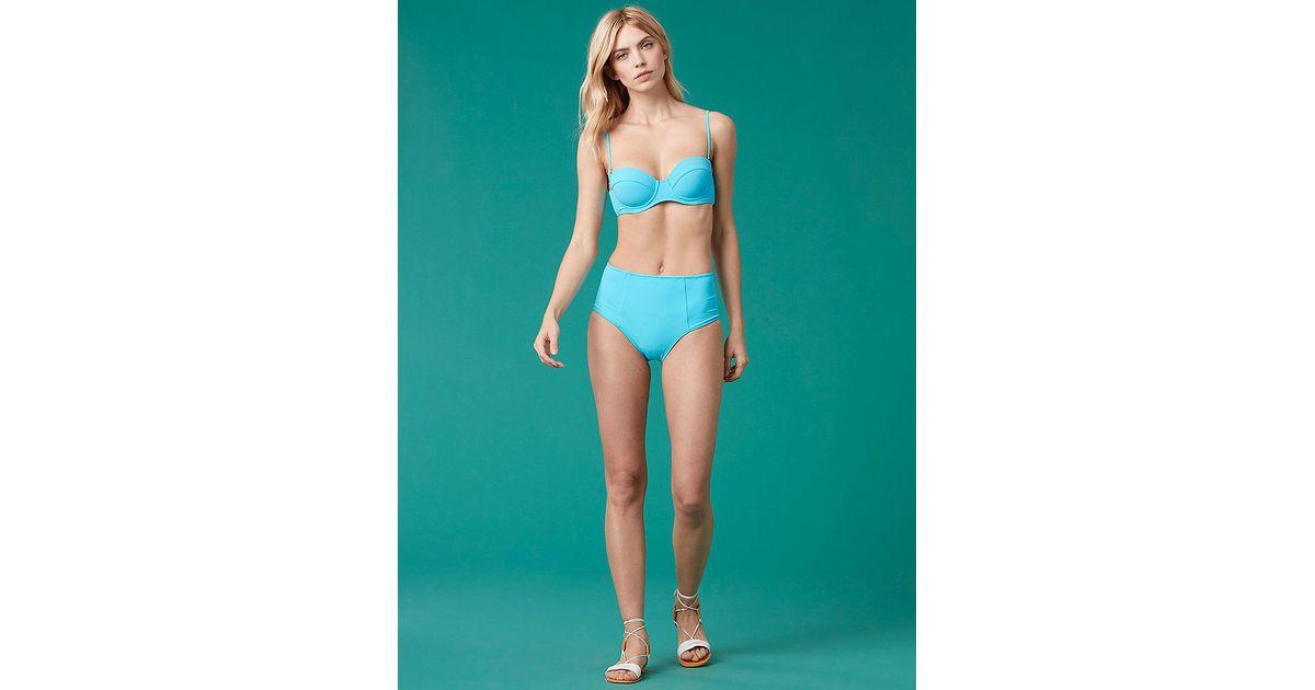 b2d706d889 Diane von Furstenberg High Waisted Bikini Bottom in Blue - Lyst