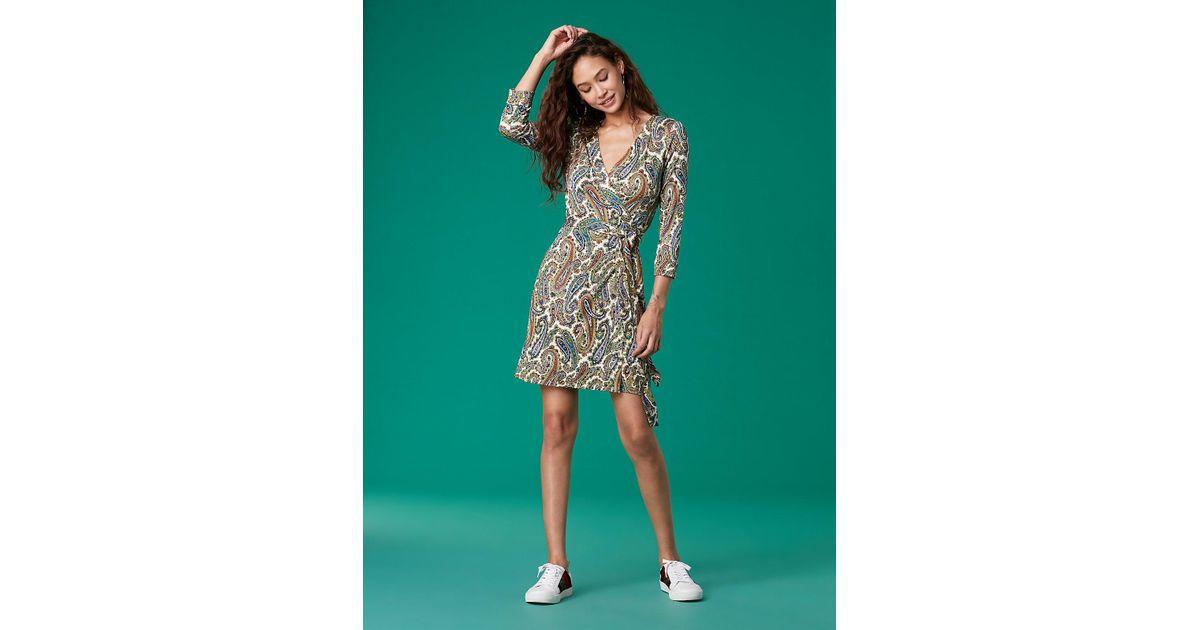 e1991c3e1e Diane von Furstenberg Julian Silk-jersey Mini Wrap Dress - Lyst