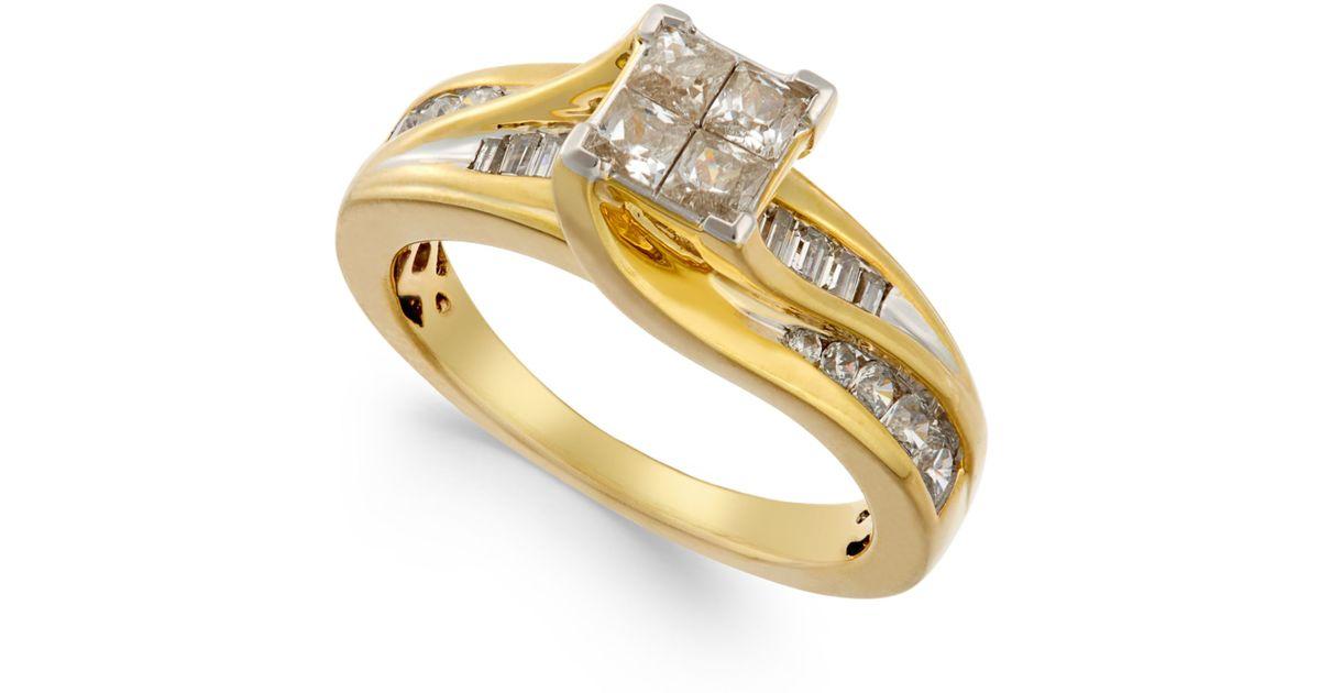 Macy s Diamond Swirl Ring 1 Ct T w In 14k Gold in Metallic