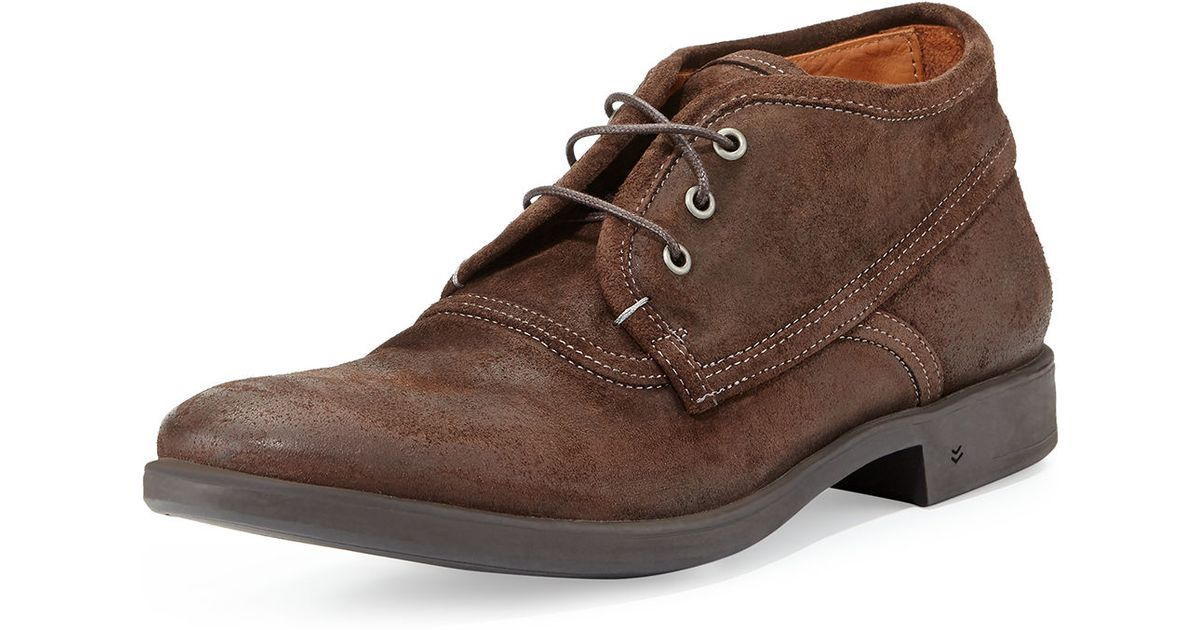 John varvatos Dylan Distressed-leather Chukka Boot in Brown for ...