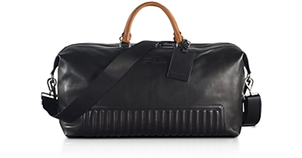 a8a072dbaa42 Lyst - Pink Pony Black Label Quilted Leather Duffel Bag in Black for Men