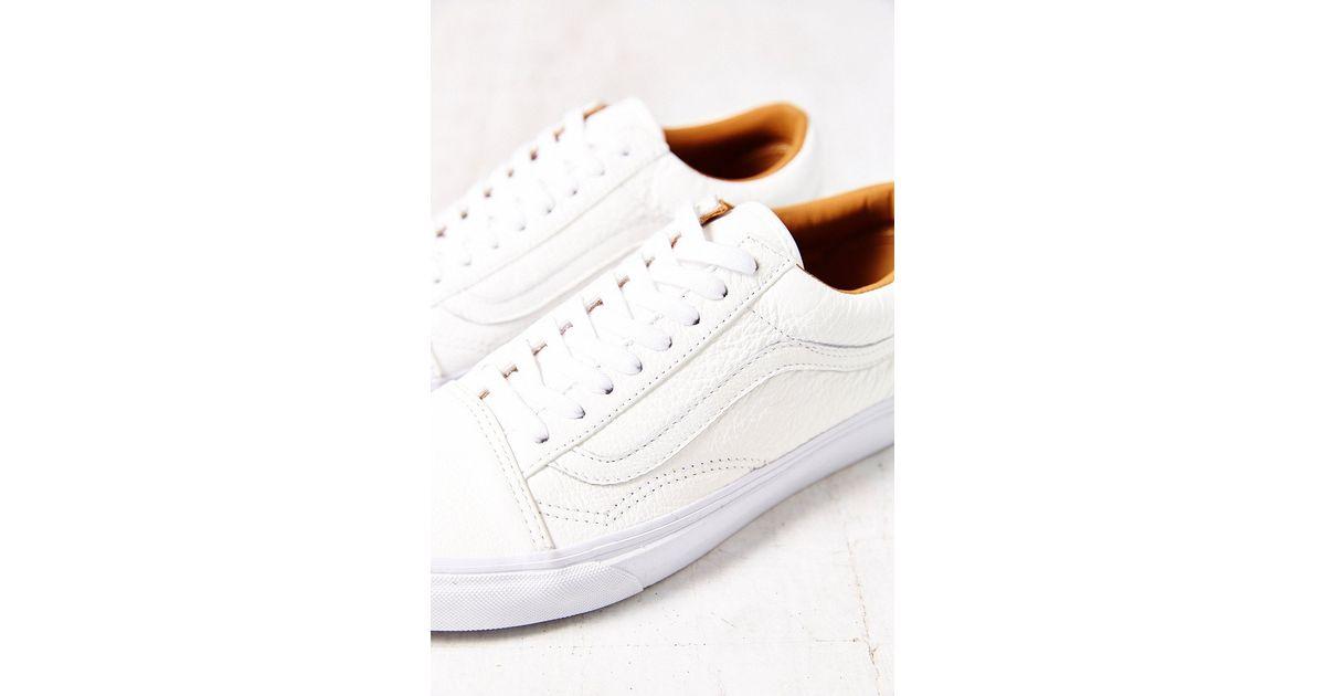 a0547079ab7d Lyst - Vans Old Skool Premium Leather Low-Top Women S Sneaker in White