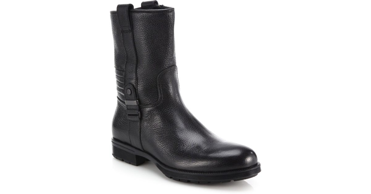 8a7735188d1 Lyst - Aquatalia Hale Leather Boots in Black for Men