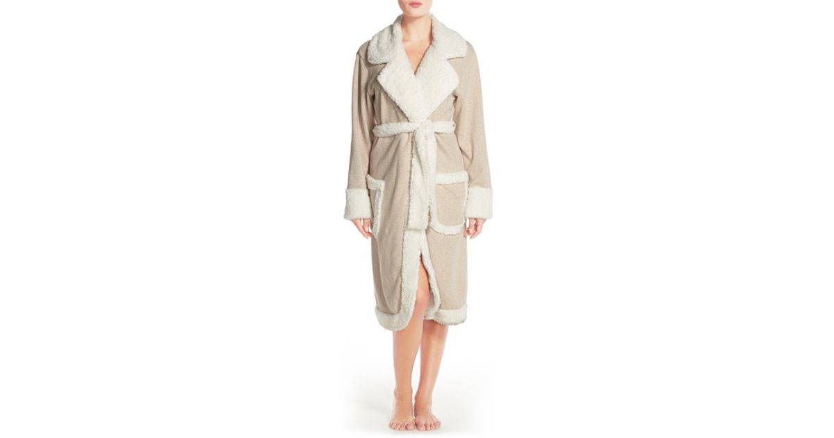 Lyst - UGG  duffield Deluxe  Robe in Natural cb9b093bc